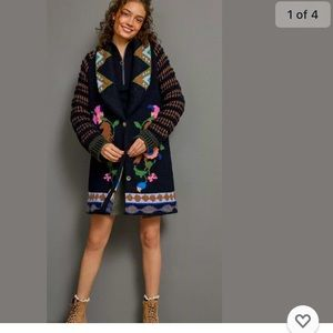 NWT Anthropologie Caballos Sweater Aldomartins XL.
